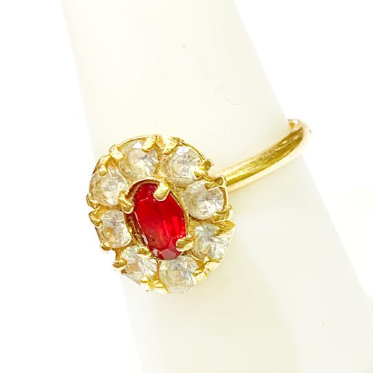 Other BEAUTIFUL!! GENUINE DEWITT ESTATE COLLECTION!! 18 Karat Yellow Gold, CZ and Synthetic Ruby Ring Image 2