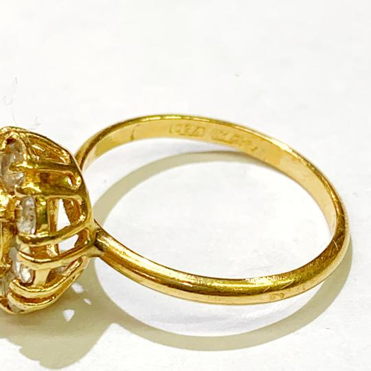 Other BEAUTIFUL!! GENUINE DEWITT ESTATE COLLECTION!! 18 Karat Yellow Gold, CZ and Synthetic Ruby Ring Image 6