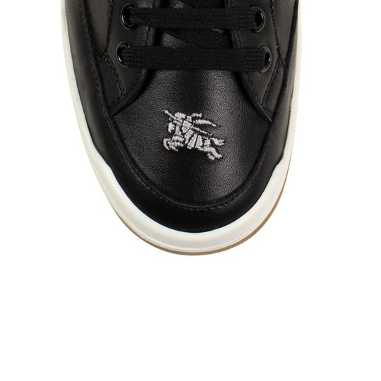 Burberry Leather Laces Chunky Embroidered Black Athletic Image 3