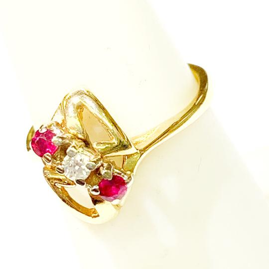Other BEAUTIFUL!! GENUINE DEWITT ESTATE COLLECTION!! Yellow Gold, Diamond and Ruby Ring Image 1
