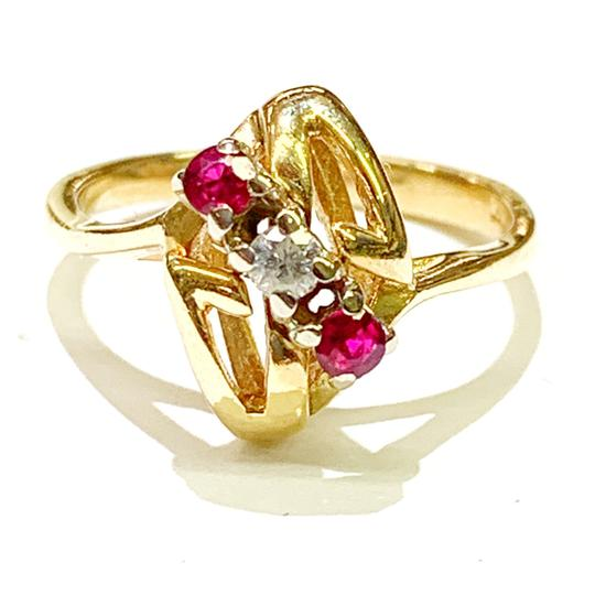 Other BEAUTIFUL!! GENUINE DEWITT ESTATE COLLECTION!! Yellow Gold, Diamond and Ruby Ring Image 2