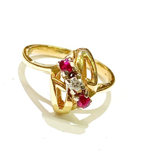 Other BEAUTIFUL!! GENUINE DEWITT ESTATE COLLECTION!! Yellow Gold, Diamond and Ruby Ring Image 3