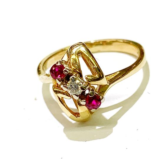 Other BEAUTIFUL!! GENUINE DEWITT ESTATE COLLECTION!! Yellow Gold, Diamond and Ruby Ring Image 4
