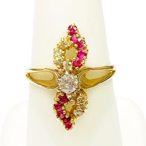 Other BEAUTIFUL!! GENUINE DEWITT ESTATE COLLECTION!! 14 Karat Yellow Gold, Diamond and Ruby Ring