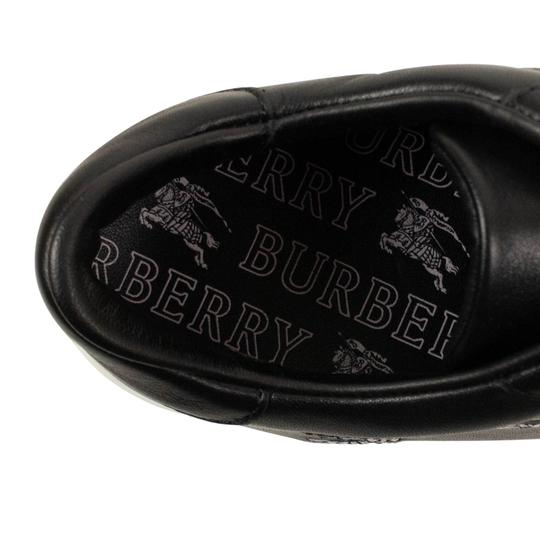Burberry Leather Laces Chunky Embroidered Black Athletic Image 6