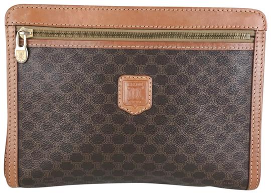 Preload https://img-static.tradesy.com/item/26354578/celine-cosmetic-pouch-macadam-25396-brown-coated-canvas-clutch-0-2-540-540.jpg
