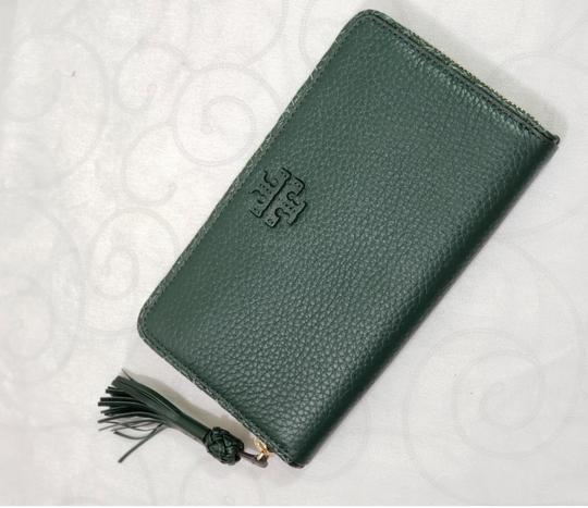 Tory Burch Tory Burch Taylor Zip Around Leather Wallet Dessert spice Image 6