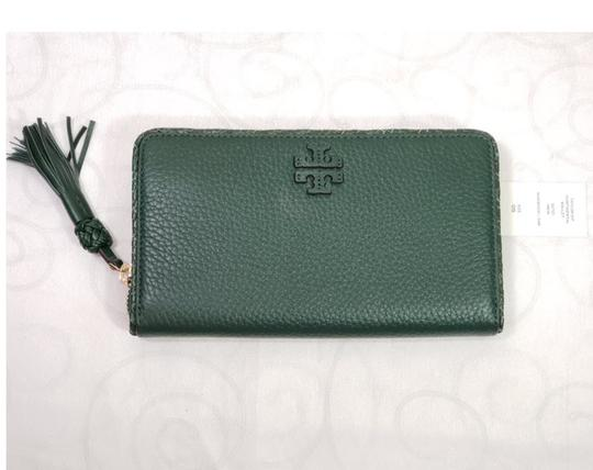 Tory Burch Tory Burch Taylor Zip Around Leather Wallet Dessert spice Image 7