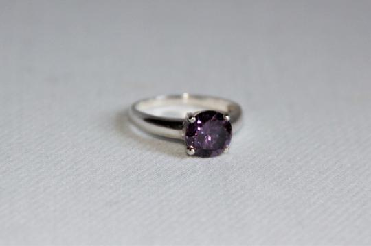unbranded Radiant Brilliant Cut 2.11 carat Amethyst, Sterling Silver Silver Ring Image 3