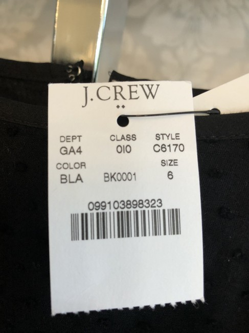 J.Crew short dress Black New Style#c6170 Cotton Ruffle on Tradesy Image 5