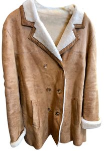 Burberry Tan Leather Jacket