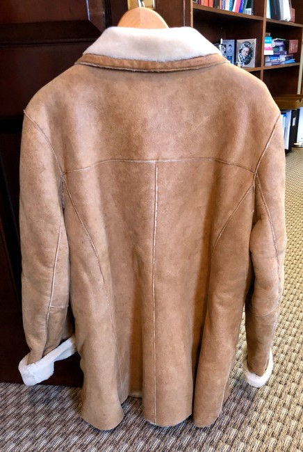 Burberry Tan Leather Jacket Image 1