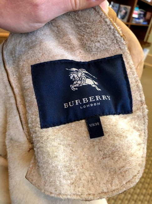 Burberry Tan Leather Jacket Image 2