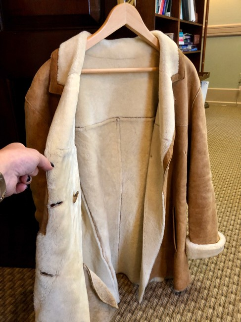 Burberry Tan Leather Jacket Image 4