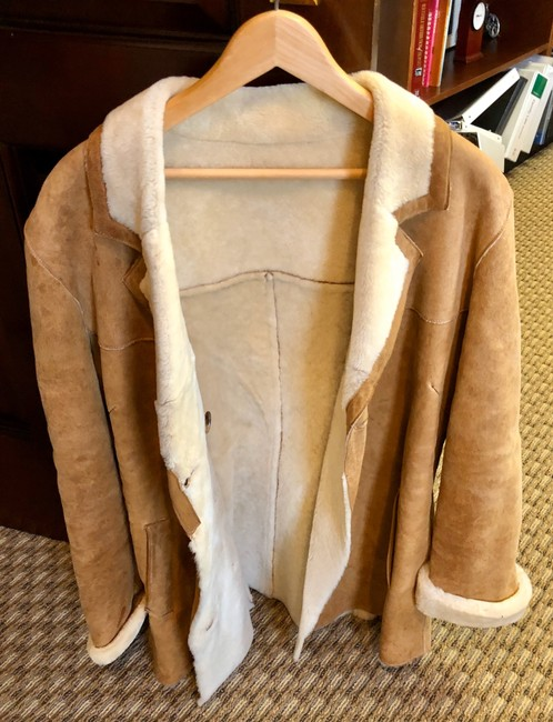 Burberry Tan Leather Jacket Image 5