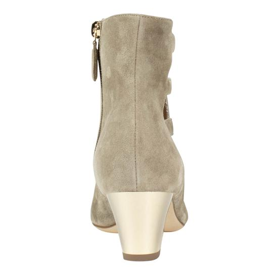 Chanel Suede Cut-out Cap Toe Beige Boots Image 4