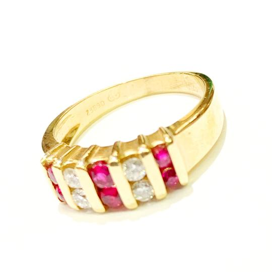 Other BEAUTIFUL!! GENUINE DEWITT ESTATE COLLECTION!! 14 Karat Yellow Gold, Diamond and Ruby Ring Image 2