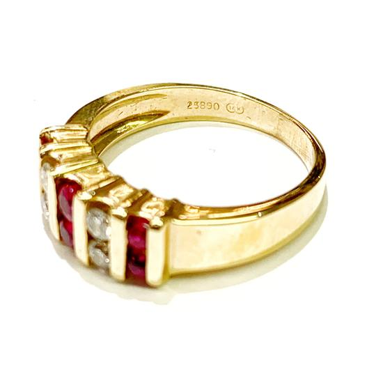 Other BEAUTIFUL!! GENUINE DEWITT ESTATE COLLECTION!! 14 Karat Yellow Gold, Diamond and Ruby Ring Image 3