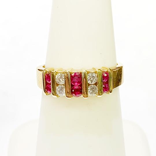 Other BEAUTIFUL!! GENUINE DEWITT ESTATE COLLECTION!! 14 Karat Yellow Gold, Diamond and Ruby Ring Image 4
