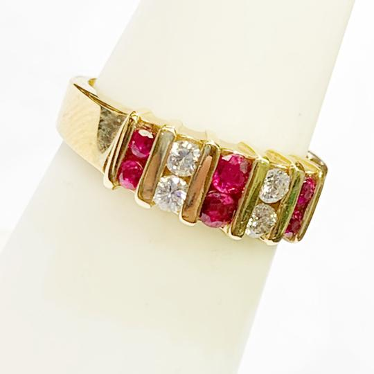Other BEAUTIFUL!! GENUINE DEWITT ESTATE COLLECTION!! 14 Karat Yellow Gold, Diamond and Ruby Ring Image 5