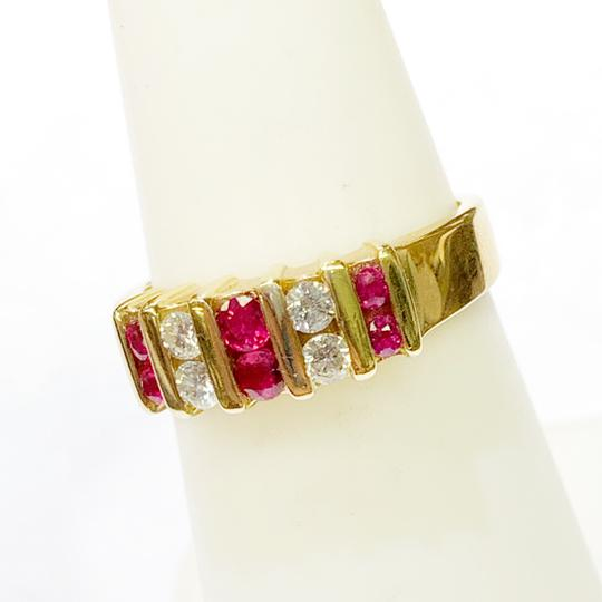 Other BEAUTIFUL!! GENUINE DEWITT ESTATE COLLECTION!! 14 Karat Yellow Gold, Diamond and Ruby Ring Image 6