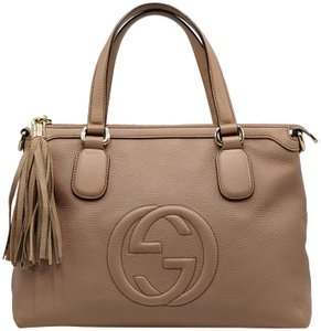 Gucci Gg Soho Shoulder Leather Tote