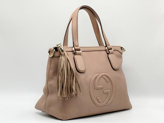 Gucci Gg Soho Shoulder Leather Tote Image 3