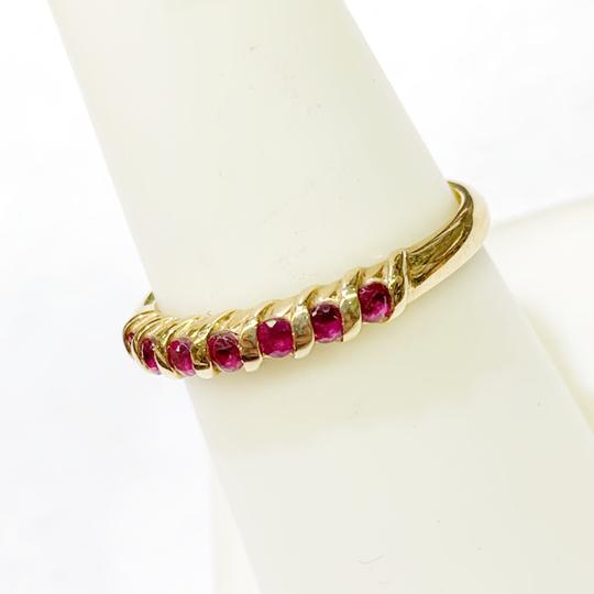 Other BEAUTIFUL!! GENUINE DEWITT ESTATE COLLECTION!! 14 Karat Yellow Gold and Ruby Ring Image 2