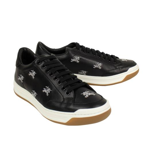 Burberry Leather Laces Chunky Embroidered Black Athletic Image 2