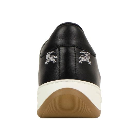 Burberry Leather Laces Chunky Embroidered Black Athletic Image 4