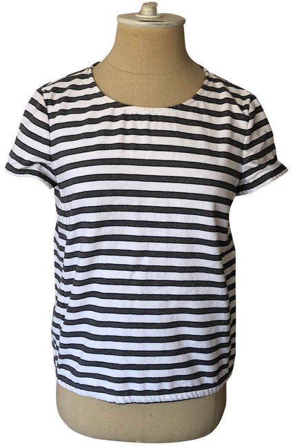 Preload https://img-static.tradesy.com/item/26354723/theory-gray-and-white-striped-cotton-summer-shell-eastview-tee-shirt-size-2-xs-0-2-650-650.jpg