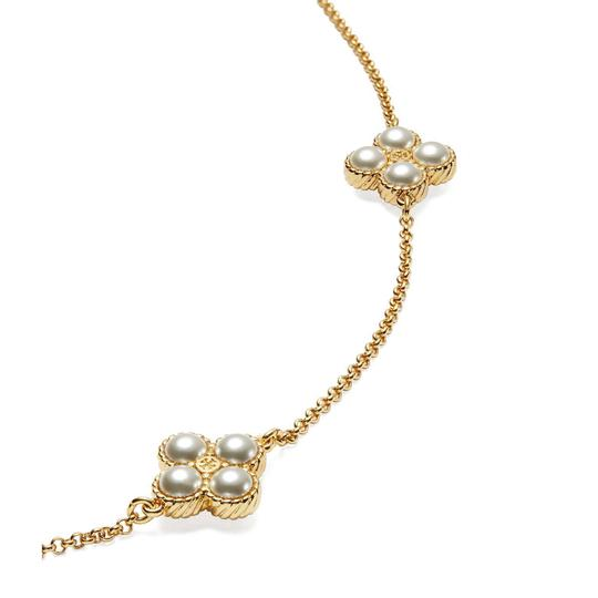 Tory Burch Brand New Tory Burch Rope Clover Swarovski Pearl Rosary Necklace Image 3