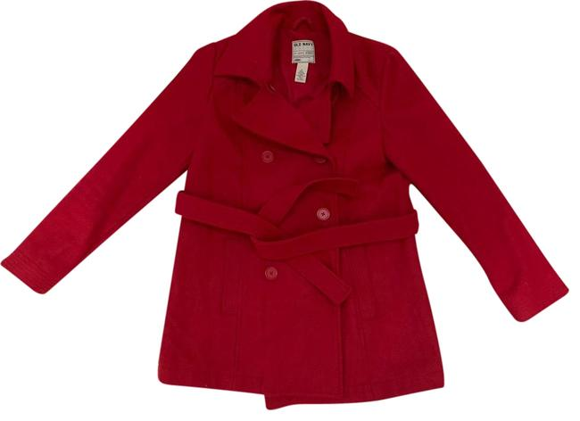 Item - Red Wool Belted S Coat Size 6 (S)