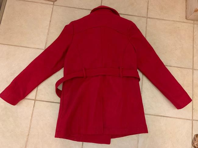 Old Navy Wool Belted Double Breasted Pea Coat Image 3
