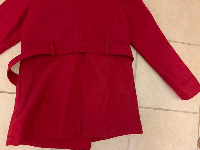Old Navy Wool Belted Double Breasted Pea Coat Image 4
