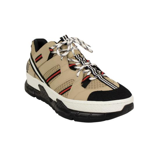 Burberry Leather Laces Chunky Beige Athletic Image 1