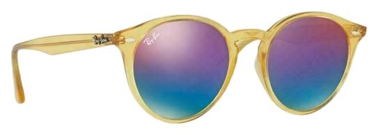 Preload https://img-static.tradesy.com/item/26354752/ray-ban-yellow-frame-and-blue-violet-gradient-mirrored-lens-rb4279f-6277b1-51-unisex-round-sunglasse-0-2-540-540.jpg