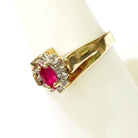 Other BEAUTIFUL!! GENUINE DEWITT ESTATE COLLECTION!! 10 Karat Yellow Gold and Ruby Ring Image 2