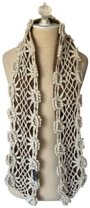 Betsey Johnson Betsy Johnson New York Floral Crochet Scarf