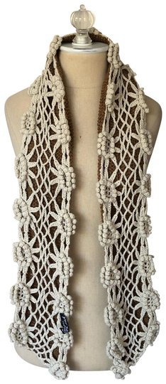 Preload https://img-static.tradesy.com/item/26354782/betsey-johnson-brown-and-cream-new-york-floral-crochet-scarfwrap-0-2-540-540.jpg