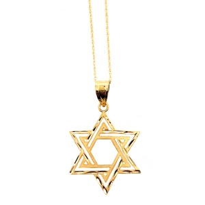 other (2332) 14K Yellow Gold Star of David Necklace