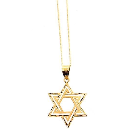 other (2332) 14K Yellow Gold Star of David Necklace Image 1