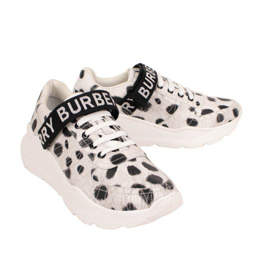 Burberry Leather Laces Chunky Animal Print Velcro White Athletic Image 2
