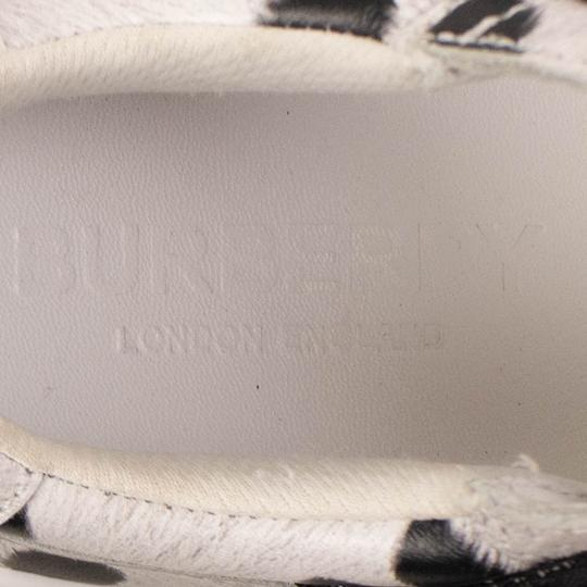 Burberry Leather Laces Chunky Animal Print Velcro White Athletic Image 6