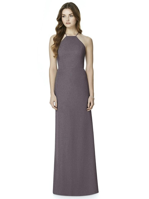 Item - Stormy Gray Shimmer Chiffon 6762 Modern Bridesmaid/Mob Dress Size 12 (L)