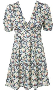 Kate Moss for Topshop short dress multi color floral print on Tradesy