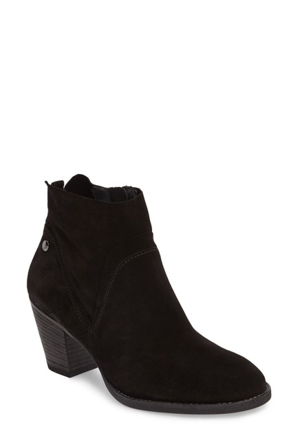 Paul Green Black Nubuck Nora Water Resistant Arch Comfort Suede (B17) Boots/Booties Size US 8.5 Regular (M, B) Paul Green Black Nubuck Nora Water Resistant Arch Comfort Suede (B17) Boots/Booties Size US 8.5 Regular (M, B) Image 1
