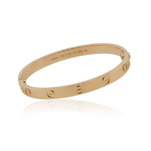 Cartier Cartier 18k Rose Gold Size 17 Love Bangle