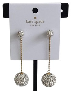 Kate Spade Nwt Kate Spade Razzle Dazzle Pave Crystal Linear Drop Pierced Earrings