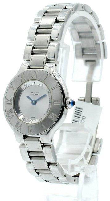 Item - Silver Must De 21 Steel Round Dress Ref: 1340 Watch